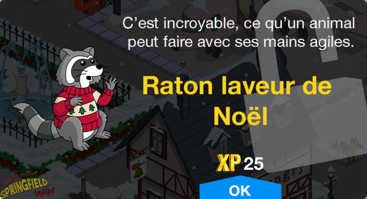 Raton laveur de Noël