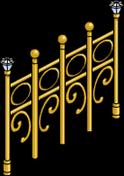 Barrière en or massif