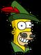 Homer Robin des bois Content