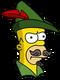 Homer Robin des bois Ennuyé