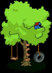 Balançoire arbre
