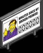 Panneau Quimby promesses non tenues