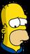 Homer Patriote Triste