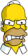 Homer Colère Face