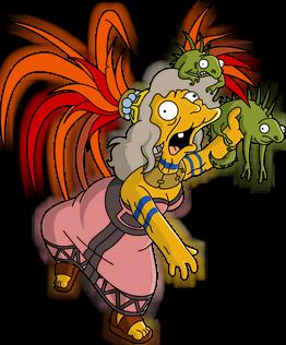 Folle aux iguanes