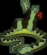 Serpent qui mange Rudolph
