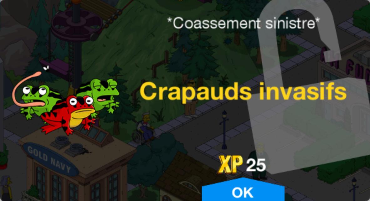Crapauds invasifs