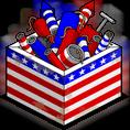 Boîte patriotique de feux d'artifice