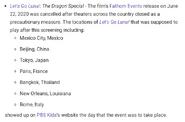 LGL-TDS Cancelled