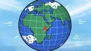 Magic Globe with Nairobi highlighted