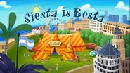 Siesta is Besta Title Card