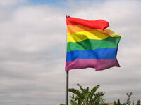 Rainbow flag flapping in the wind.jpg