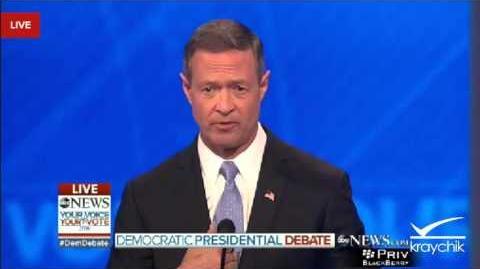 O'Malley Shames Clinton on 9 11 Exploitation; Democratic Debate; ABC; 12-19-2015