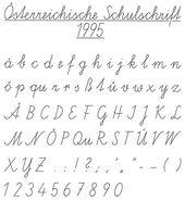 Standardised Austrian Cursive