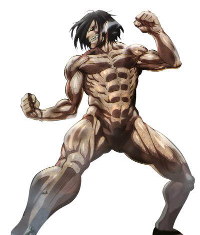 Shingeki !1titan eren kakoii battle hd render by.png