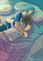Max and chloe cuddles by maarika