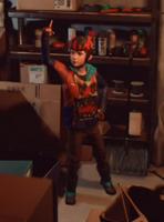Captain Spirit armadura escura pesada