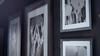 Wall Photos Behind Desk Dark Room