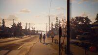 Lyla and Sean walking home. (4)