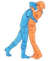 Two-tone kiss