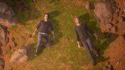 Alex and Ryan enjoying a memory of Gabe at the ravine
