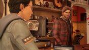 Ryan noticing Alex's overwhelmed behavior in the record store