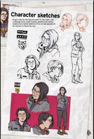 Character sketches Alex