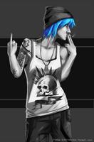 Blue-haired goddess