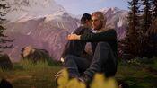 Alex hugging Ryan at the ravine