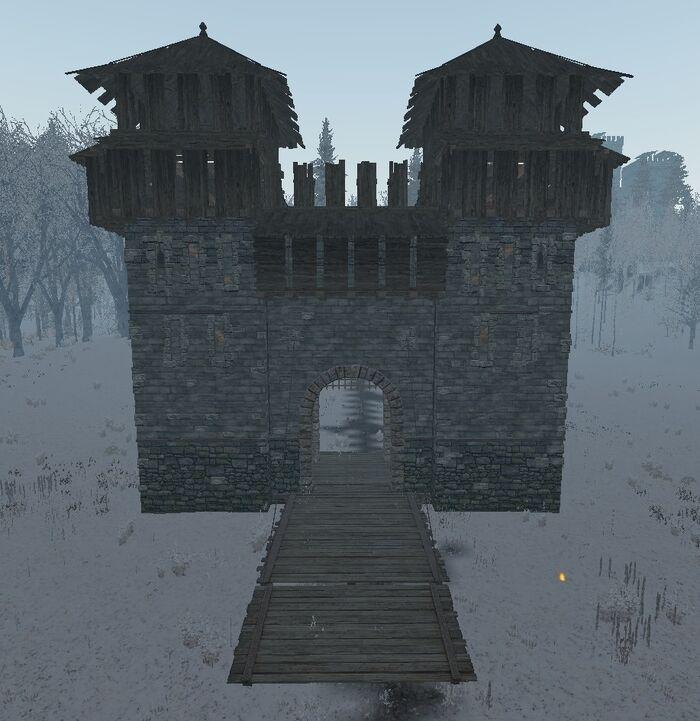 Castle gatehouse with bridge ingame.jpg