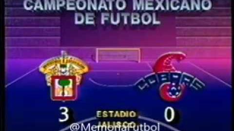 U de G vs Cobras 89 90 J27 **Futbol Retro**