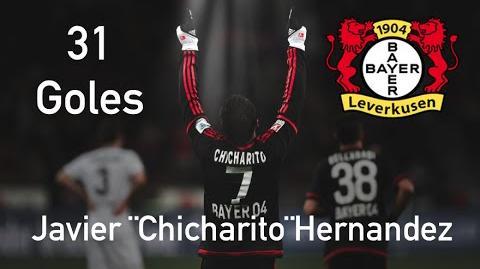 Los 31 Goles de Javier ¨Chicharito¨ Hernandez con el Bayer Leverkusen - 2015-2016 (720p HD)