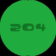 204's green pod