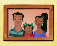 Young Nani with her parents