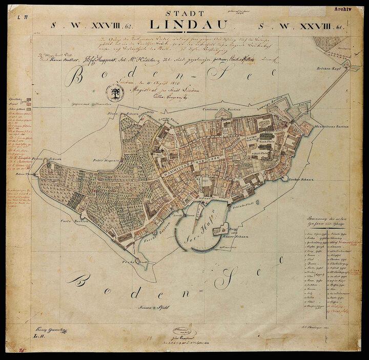 Stadtplan von 1822
