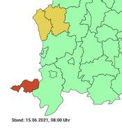 Covid-19-Karte von Südwestbayern