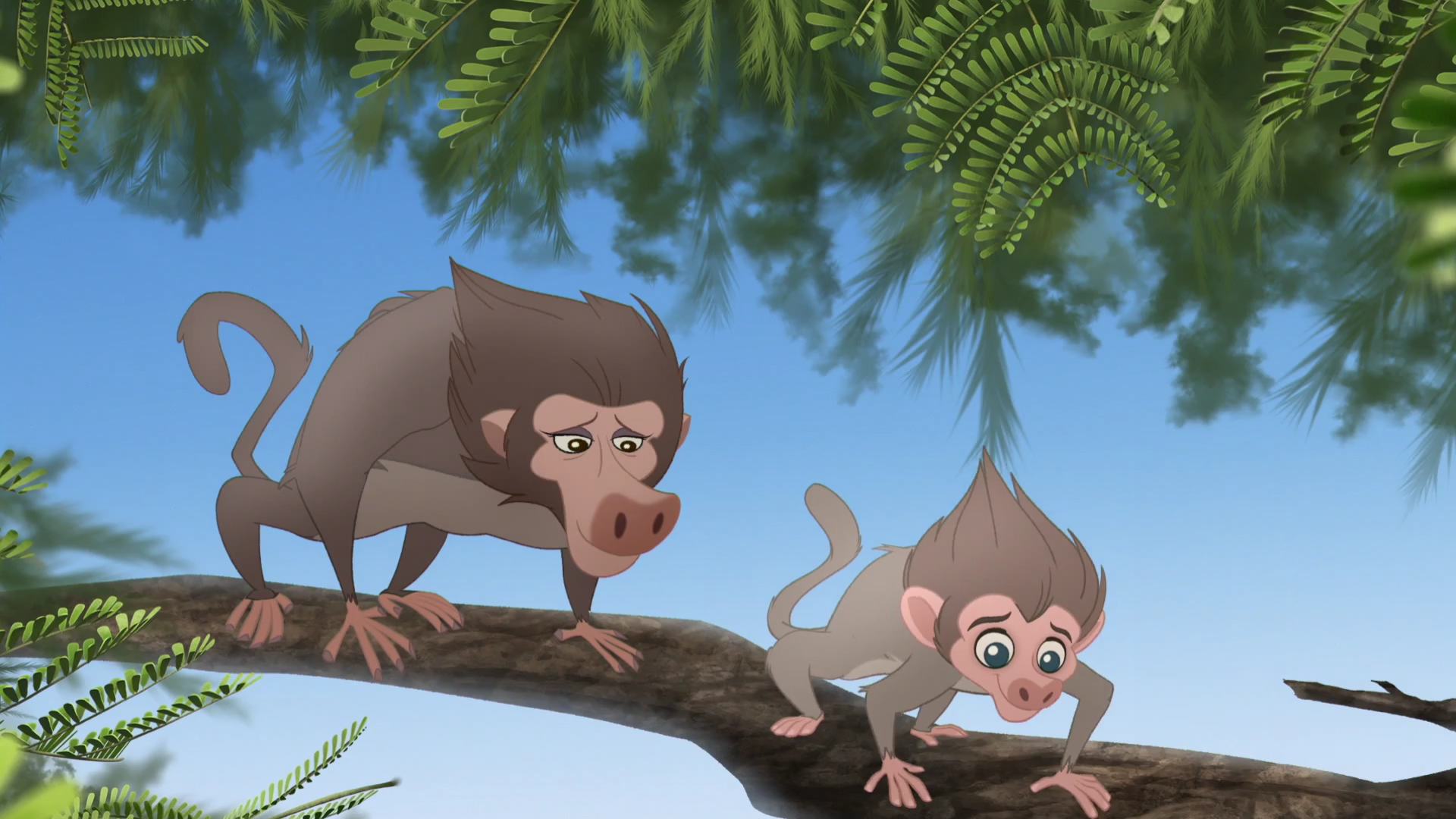 Baby Baboon's Mother/Gallery Battle for the Pride Lands