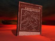 Slab of shooting star dragon artwork