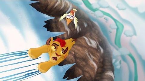 Lion Guard Hafifu and Majinuni save Kion! The Lost Gorillas HD Clip