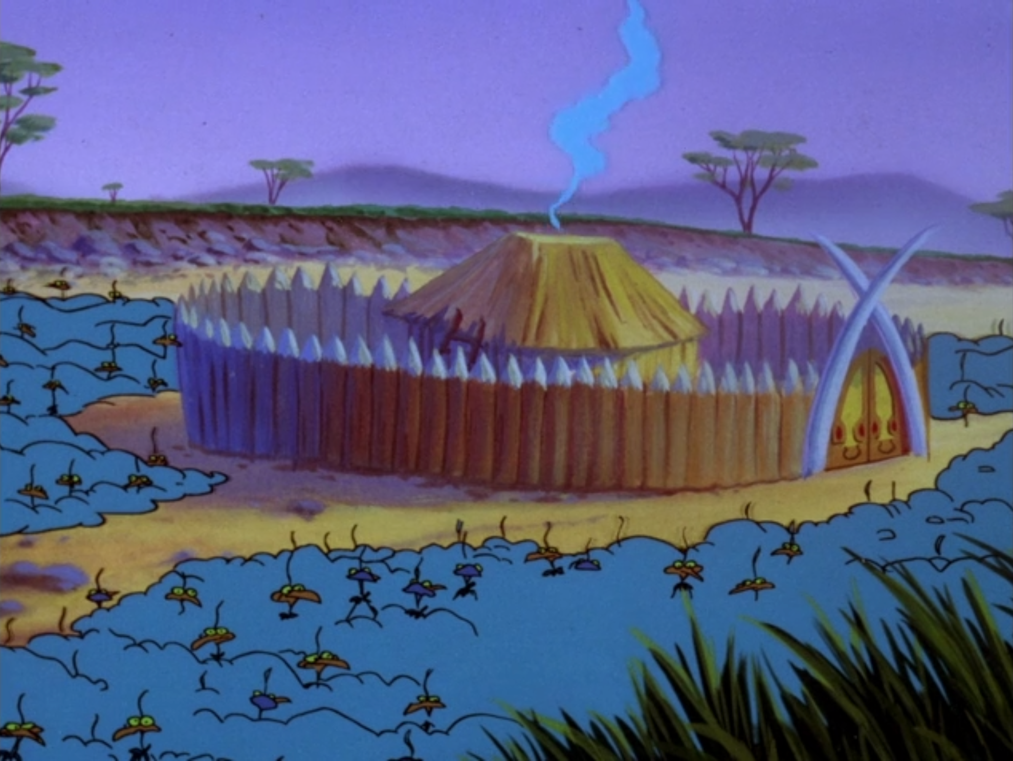 Warthogs' hut
