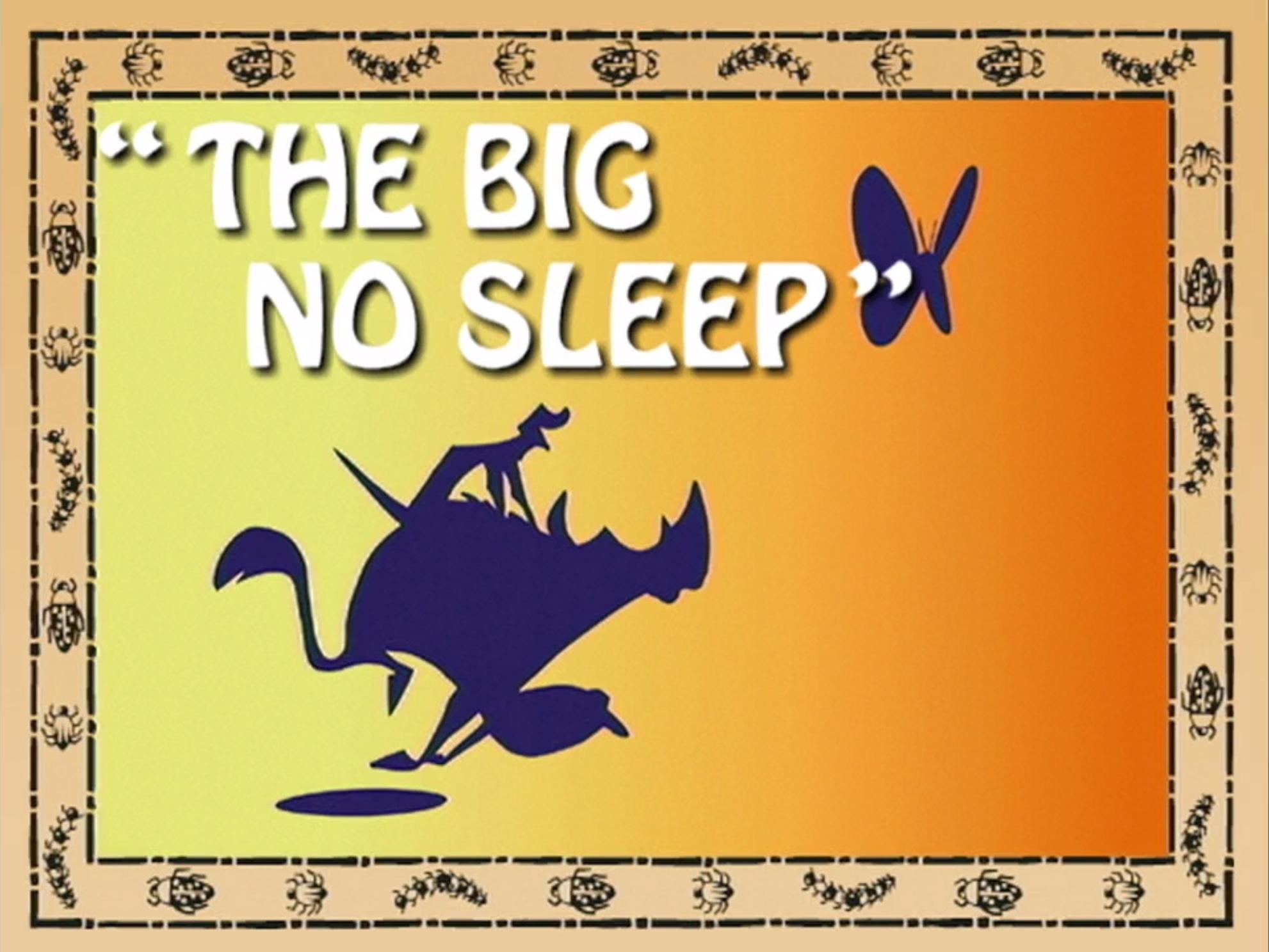 The Big No Sleep