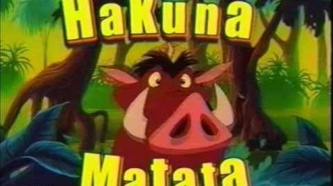"""Timon and Pumbaa Promo """"What is Hakuna Matata?"""" (Toon Disney) (2004)"""