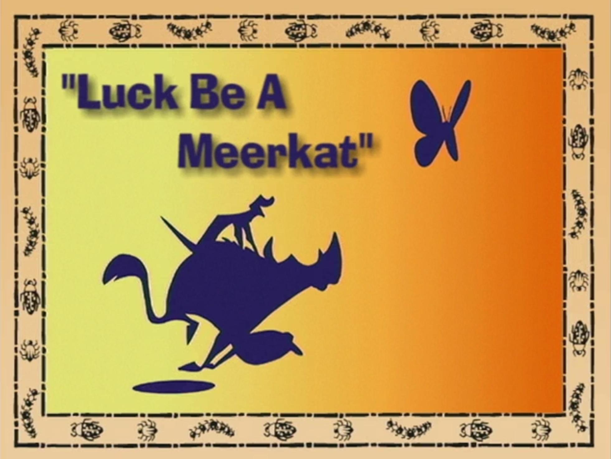 Luck Be a Meerkat