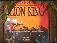 Legend of the Lion King ❄ Fantasyland Magic Kingdom ❄ Walt Disney World ❄ November 1994
