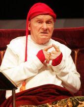 Michel Bouquet, interprétant Argan dans Le malade imaginaire, âgé de 89ans.