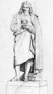 Molière 1850 statue Francisque Joseph Duret