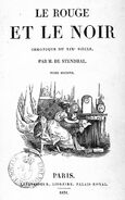 Stendhal Le Rouge et le noir 1831 2