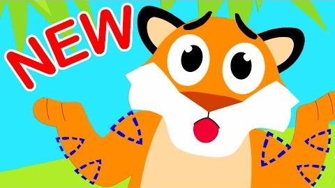 Where Are My Stripes? Tiger Boo Boo Lost his Stripes! by Little Angel Nursery Rhymes & Kid's Songs