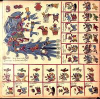 The 5 page of the Codex Borbonicus