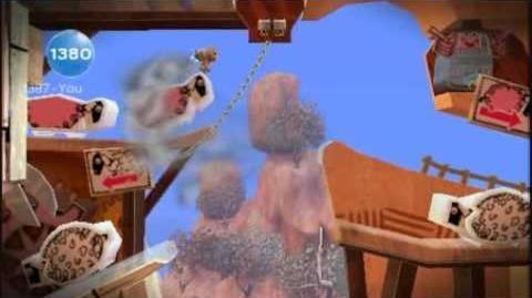 Little Big Planet Level 1 Down Under Part 6 Shear Madness - Sony PSP - DVDfeverGames